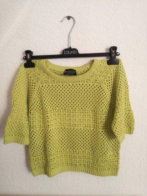 löchriges Shirt in grün/gelb