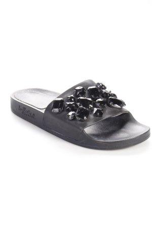Loeffler Randall Sandalen schwarz mit Steinen