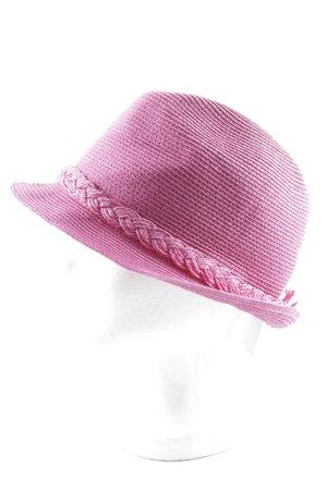 Loevenich Sombrero de ala ancha rosa estilo extravagante