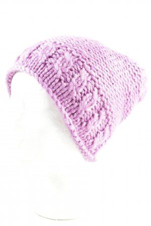 Loevenich Knitted Hat pink fluffy