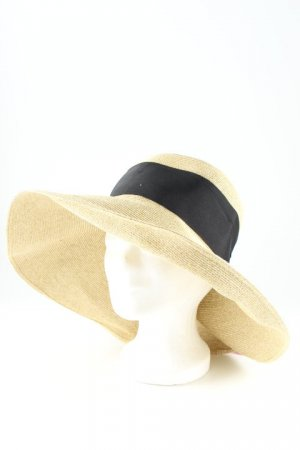 Loevenich Straw Hat pale yellow-black beach look