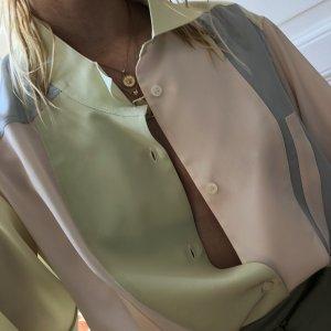 Loewe Bluse Seidenbluse in Pastellfarben Patchwork Bluse aus Seide Größe 34