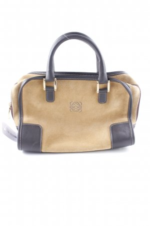Loewe Carry Bag black brown-cognac-coloured casual look