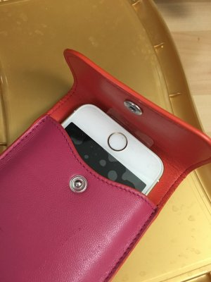 Loewe I Phone Case, Leder, zweifarbig