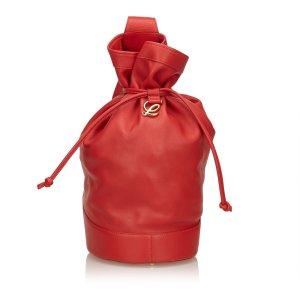 Loewe Leather Drawstring Backpack