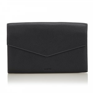 Loewe Leather Envelope Clutch Bag