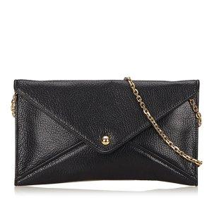 Loewe Clutch black leather