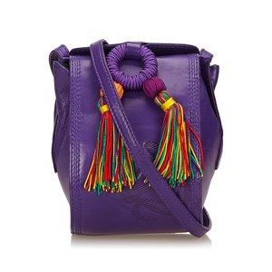 Loewe Leather Tassel Bag
