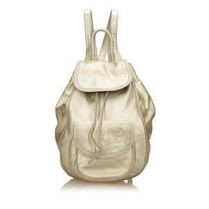 Loewe Backpack gold-colored leather