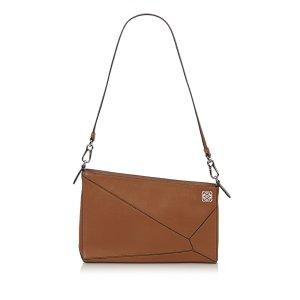Loewe Clutch brown leather
