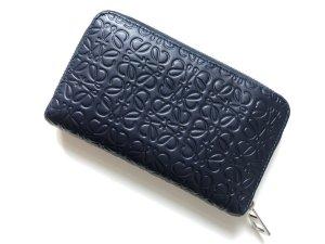 Loewe Key Chain blue leather