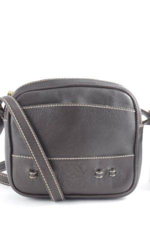 Loewe Crossbody bag dark brown-brown Boho look