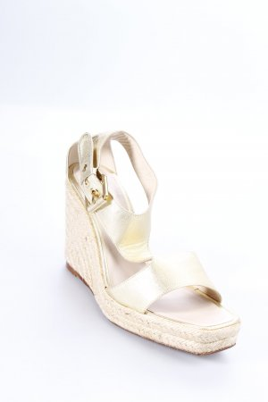 Loewe Wedge Sandals gold-colored-cream beach look