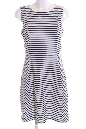 Loft A-Linien Kleid weiß-schwarz Streifenmuster Casual-Look