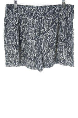 Loft Short taille haute noir-blanc cassé motif abstrait style structure