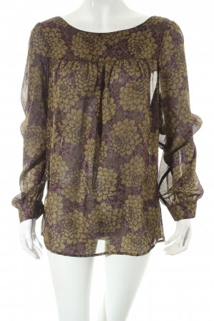 Loft Langarm-Bluse florales Muster Casual-Look