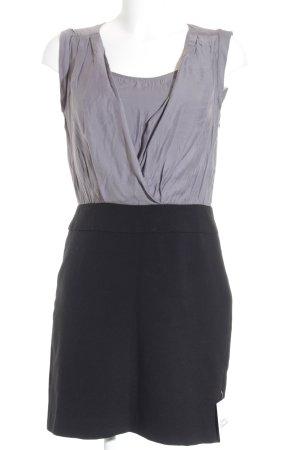 Loft Minikleid silberfarben-schwarz Party-Look