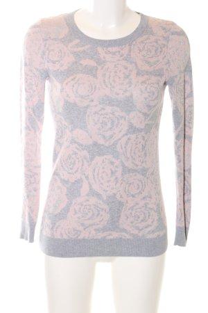 Loft Rundhalspullover hellgrau-pink Allover-Druck Casual-Look