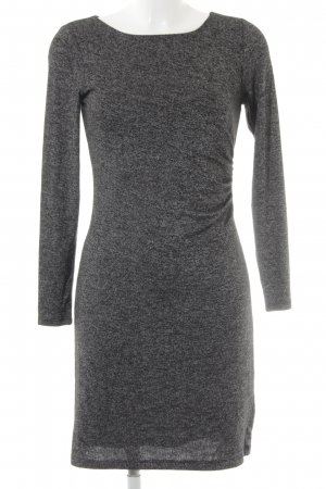 Loft Tube Dress black-light grey flecked business style