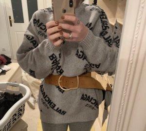 Balenciaga Jersey holgados negro-gris