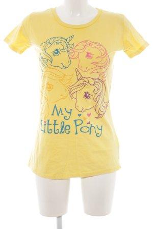 Logoshirt T-Shirt Motivdruck Casual-Look