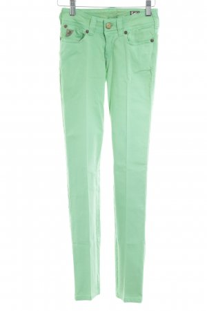 Lois Jeans Pantalone a sigaretta verde neon stile casual