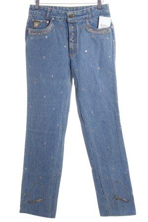 Lois Jeans Straight-Leg Jeans kornblumenblau extravaganter Stil