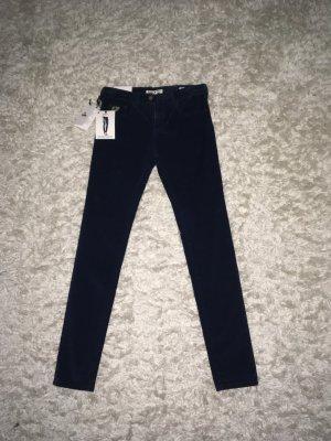Lois Jeans Pantalone di velluto a coste blu scuro