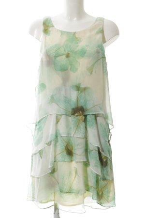 Loiza by Patrizia Pepe Chiffon jurk turkoois-wolwit bloemenprint