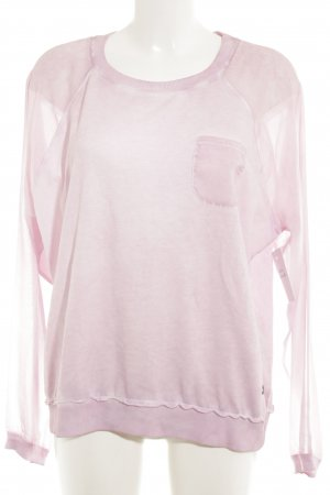 Lola by little West 8 Sweatshirt rosa-hellrosa meliert Street-Fashion-Look
