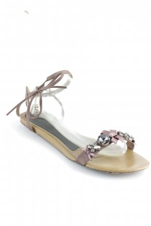 Lola cruz Sandalo Dianette color cammello-marrone stile casual