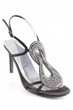 Lola cruz High Heel Sandal silver-colored-black elegant