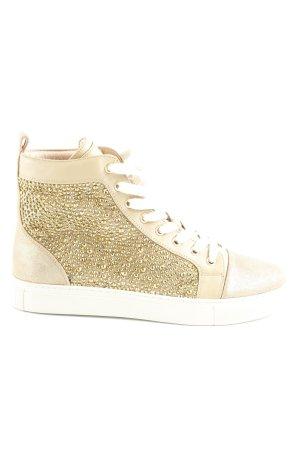 Lola cruz High Top Sneaker goldfarben Glitzer-Optik