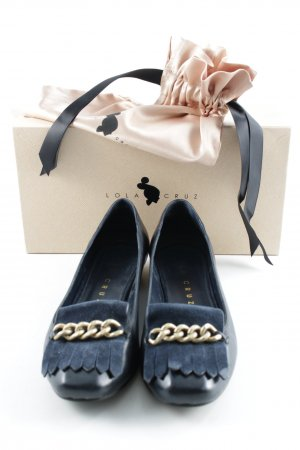 Lola cruz Patent Leather Ballerinas dark blue business style