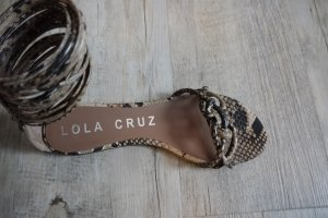 Lola cruz Roman Sandals multicolored leather