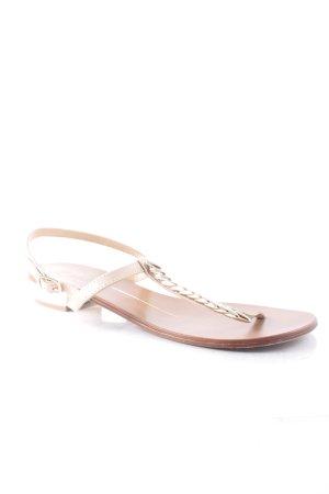 Lola cruz Zehentrenner-Sandalen nude-braun klassischer Stil