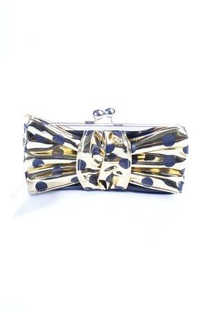 Lola ramona Clutch goldfarben-schwarz Punktemuster extravaganter Stil