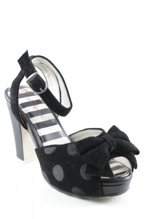 Lola ramona High Heel Sandaletten schwarz Punktemuster Rockabilly-Look