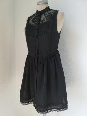 Lolita gothic Kleid schwarz Spitze Gr. 36 S kurz mini Minikleid