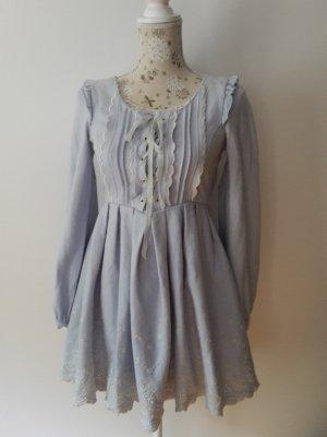 Babydoll-jurk azuur