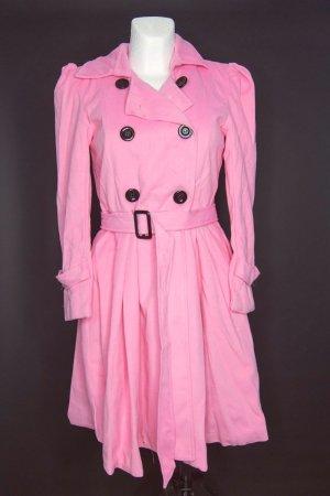 Manteau en laine rose fluo-rose