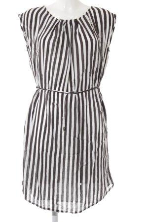 Lollys Laundry Blusenkleid schwarz-weiß Streifenmuster Casual-Look