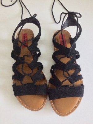 London Rebel Roman Sandals black