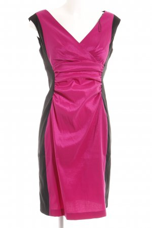 London Times Midikleid schwarz-magenta Colourblocking Elegant