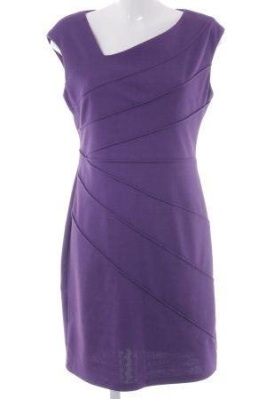 London Times Stretchkleid dunkelviolett Elegant