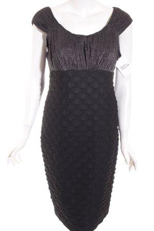 London Times Stretchkleid schwarz Glitzer-Optik