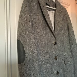 Long Blazer, Gehrock, Trench, Mantel Grau in 40