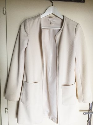 Long-Blazer in weiß/creme
