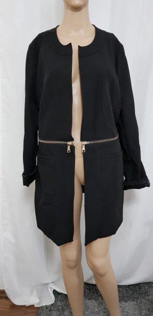 long blazer jacke schwarz gold