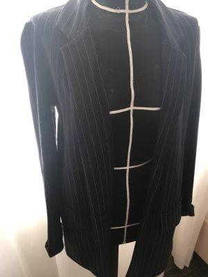 Long Blazer mit Nadelstreifen